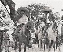 Grupo de sudcalifornianos encabezado por el general Félix Ortega